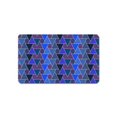 Geo Fun 7 Inky Blue Magnet (name Card) by MoreColorsinLife
