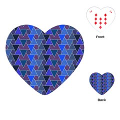 Geo Fun 7 Inky Blue Playing Cards (heart)  by MoreColorsinLife