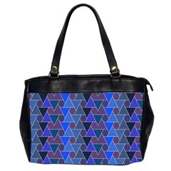 Geo Fun 7 Inky Blue Office Handbags (2 Sides)  by MoreColorsinLife