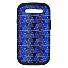 Geo Fun 7 Inky Blue Samsung Galaxy S Iii Hardshell Case (pc+silicone) by MoreColorsinLife