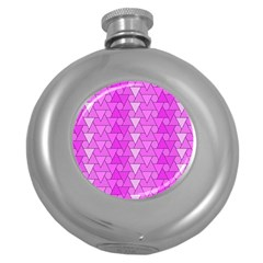 Geo Fun 7 Round Hip Flask (5 Oz) by MoreColorsinLife