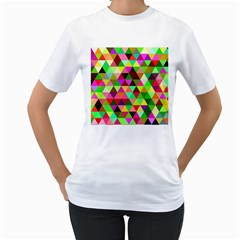 Geo Fun 07 Women s T Shirt (white) (two Sided) by MoreColorsinLife
