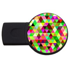 Geo Fun 07 Usb Flash Drive Round (2 Gb)  by MoreColorsinLife