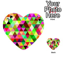 Geo Fun 07 Playing Cards 54 (heart)  by MoreColorsinLife