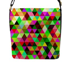 Geo Fun 07 Flap Messenger Bag (l)  by MoreColorsinLife