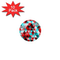 Geo Fun 07 Red 1  Mini Magnet (10 Pack)  by MoreColorsinLife