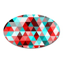 Geo Fun 07 Red Oval Magnet