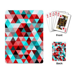 Geo Fun 07 Red Playing Card by MoreColorsinLife