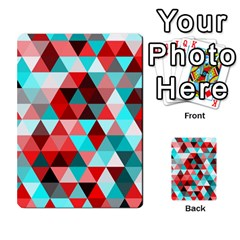 Geo Fun 07 Red Multi Purpose Cards (rectangle)  by MoreColorsinLife