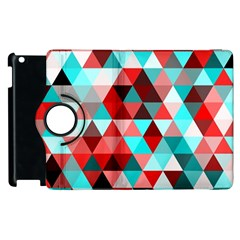 Geo Fun 07 Red Apple Ipad 3/4 Flip 360 Case by MoreColorsinLife