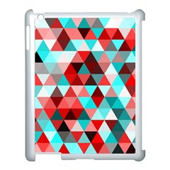 Geo Fun 07 Red Apple Ipad 3/4 Case (white) by MoreColorsinLife