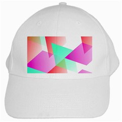 Geometric 03 Pink White Cap by MoreColorsinLife