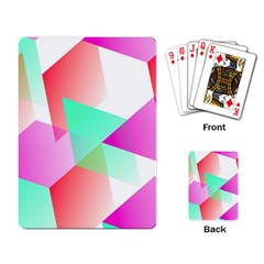 Geometric 03 Pink Playing Card by MoreColorsinLife