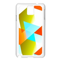 Geometric 03 Orange Samsung Galaxy Note 3 N9005 Case (white) by MoreColorsinLife