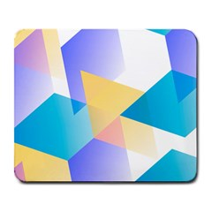 Geometric 03 Blue Large Mousepads by MoreColorsinLife