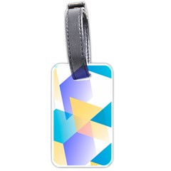 Geometric 03 Blue Luggage Tags (two Sides) by MoreColorsinLife