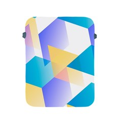 Geometric 03 Blue Apple Ipad 2/3/4 Protective Soft Cases