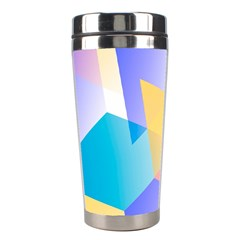 Geometric 03 Blue Stainless Steel Travel Tumblers by MoreColorsinLife