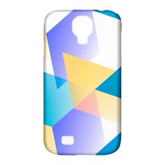 Geometric 03 Blue Samsung Galaxy S4 Classic Hardshell Case (pc+silicone) by MoreColorsinLife