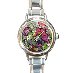 Amazing Garden Flowers 21 Round Italian Charm Watches by MoreColorsinLife