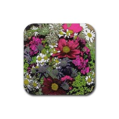 Amazing Garden Flowers 21 Rubber Coaster (square)