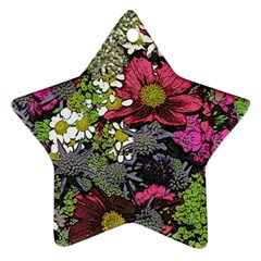 Amazing Garden Flowers 21 Star Ornament (two Sides)  by MoreColorsinLife