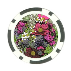 Amazing Garden Flowers 21 Poker Chip Card Guards (10 Pack)