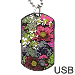 Amazing Garden Flowers 21 Dog Tag Usb Flash (two Sides)  by MoreColorsinLife