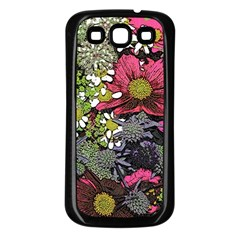 Amazing Garden Flowers 21 Samsung Galaxy S3 Back Case (black)