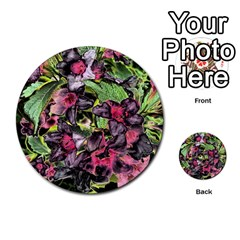 Amazing Garden Flowers 33 Multi Purpose Cards (round)  by MoreColorsinLife