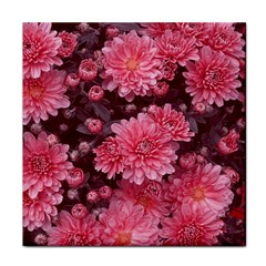 Awesome Flowers Red Tile Coasters