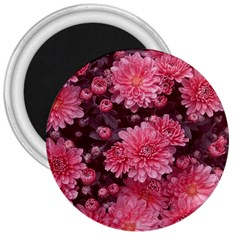 Awesome Flowers Red 3  Magnets