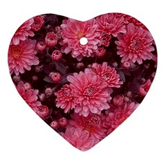 Awesome Flowers Red Ornament (heart)