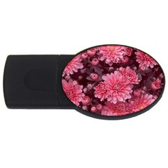 Awesome Flowers Red Usb Flash Drive Oval (2 Gb)