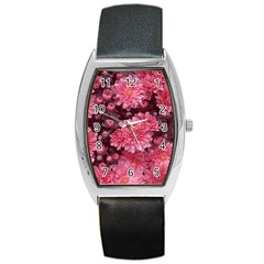 Awesome Flowers Red Barrel Metal Watches
