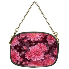 Awesome Flowers Red Chain Purses (two Sides)