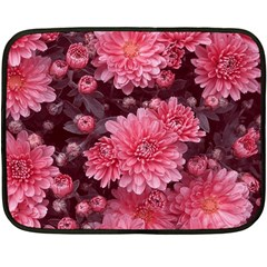 Awesome Flowers Red Fleece Blanket (mini)