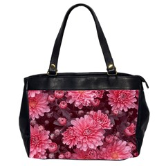 Awesome Flowers Red Office Handbags (2 Sides)