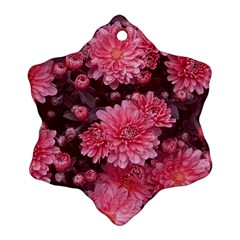 Awesome Flowers Red Ornament (snowflake)