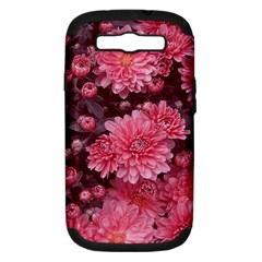 Awesome Flowers Red Samsung Galaxy S Iii Hardshell Case (pc+silicone)