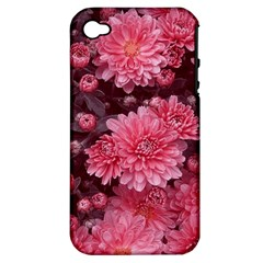 Awesome Flowers Red Apple Iphone 4/4s Hardshell Case (pc+silicone)