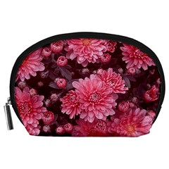 Awesome Flowers Red Accessory Pouches (large)  by MoreColorsinLife