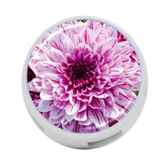 Wonderful Flowers 4 Port Usb Hub (two Sides)