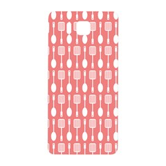 Coral And White Kitchen Utensils Pattern Samsung Galaxy Alpha Hardshell Back Case