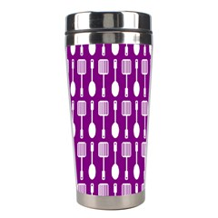 Magenta Spatula Spoon Pattern Stainless Steel Travel Tumblers by creativemom