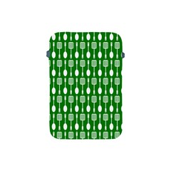 Green And White Kitchen Utensils Pattern Apple Ipad Mini Protective Soft Cases