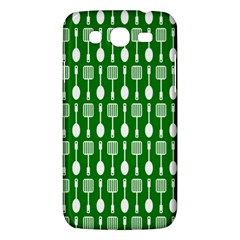 Green And White Kitchen Utensils Pattern Samsung Galaxy Mega 5 8 I9152 Hardshell Case  by creativemom