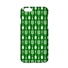 Green And White Kitchen Utensils Pattern Apple Iphone 6/6s Hardshell Case by creativemom