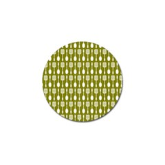 Olive Green Spatula Spoon Pattern Golf Ball Marker (10 Pack) by creativemom