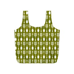 Olive Green Spatula Spoon Pattern Full Print Recycle Bags (s)  by creativemom